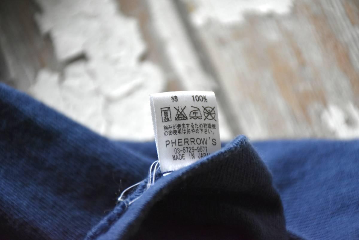 希少 日本製 Pherrow's フェローズ 雰囲気抜群 ネイビー ブルー ROYAL PACIFIC SEALS 半袖 Tシャツ S コットン 36/38_画像4