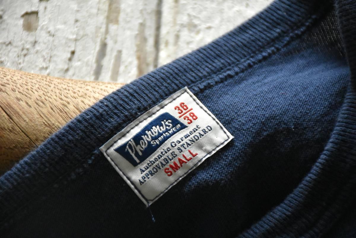 希少 日本製 Pherrow's フェローズ 雰囲気抜群 ネイビー ブルー ROYAL PACIFIC SEALS 半袖 Tシャツ S コットン 36/38_画像3