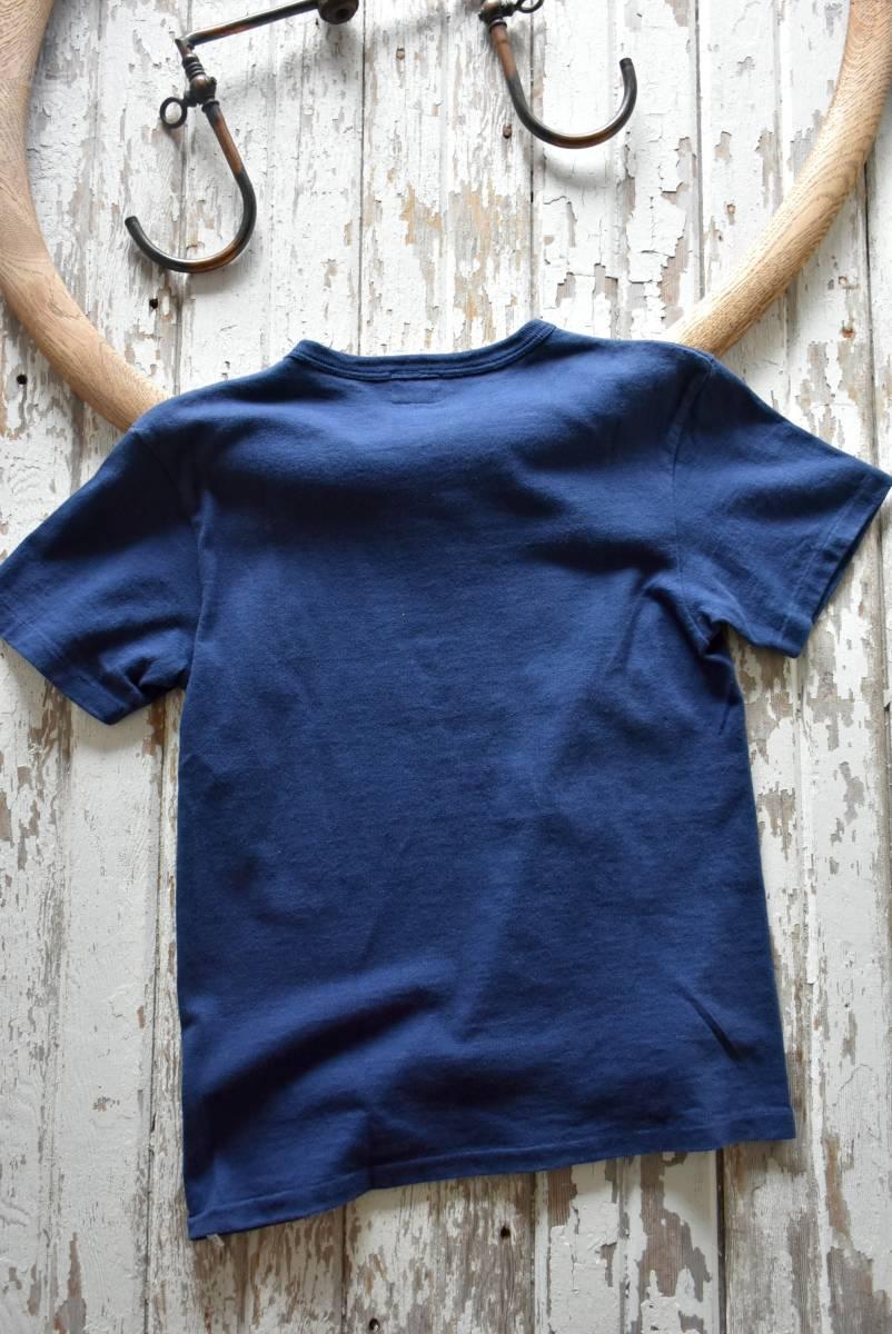 希少 日本製 Pherrow's フェローズ 雰囲気抜群 ネイビー ブルー ROYAL PACIFIC SEALS 半袖 Tシャツ S コットン 36/38_画像5