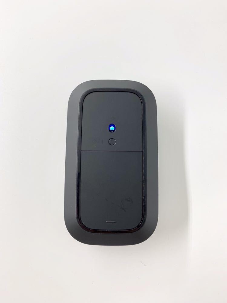 【通電確認済み】Microsoft マイクロソフト デザイナー Designer Bluetooth マウス モデル 1679 ブラック 無線 機器 電子 PC _画像3
