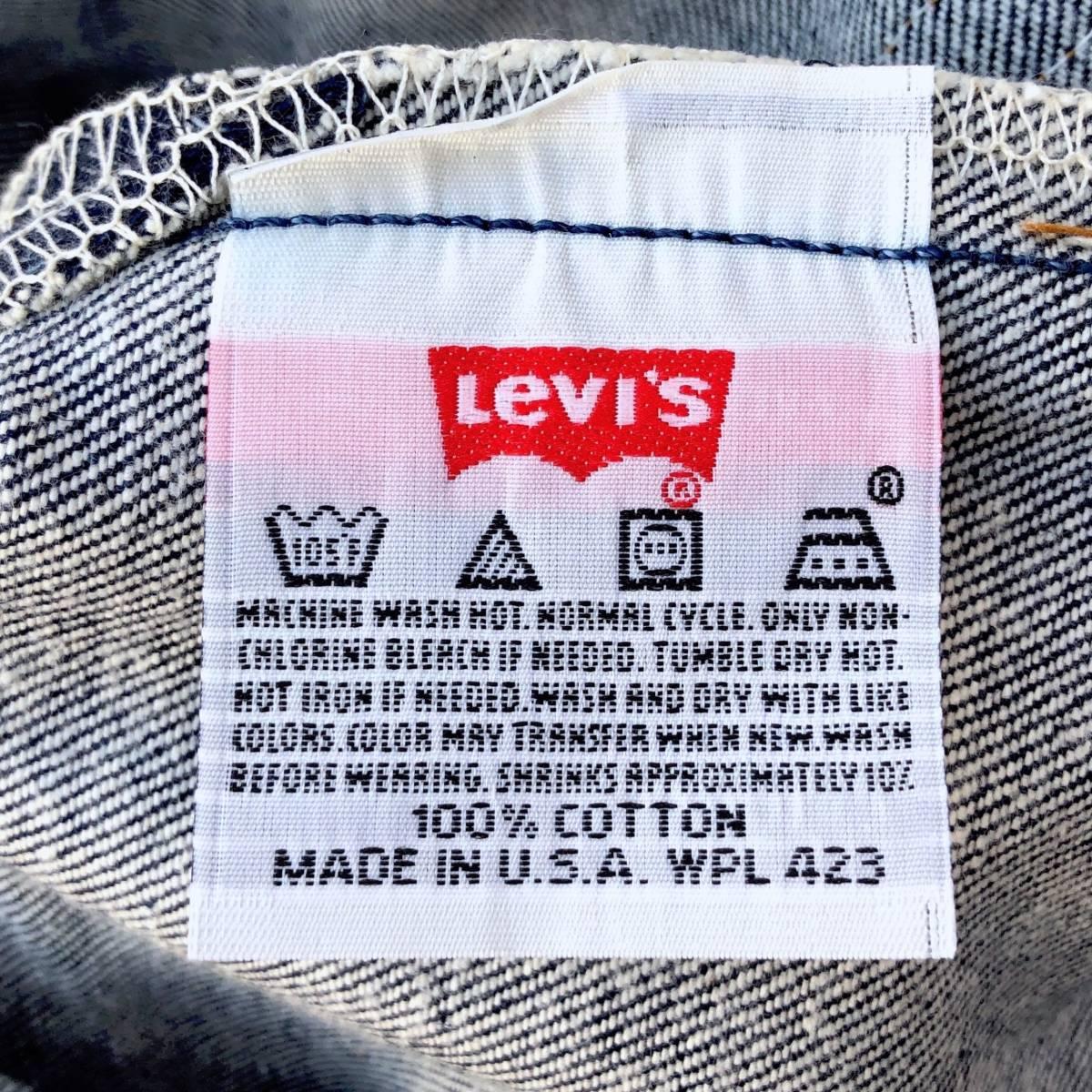 米国製 デッド LEVI'S 501XX 1501-0117 レギュラー W31 L38 リジッド デニムパンツ 新品 ビンテージ 90s ジーンズ アメリカUSA製1990年代_画像7