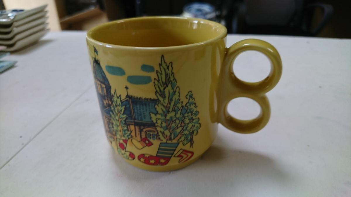 昭和レトロ pied ピエ マグカップ アンティーク_画像3