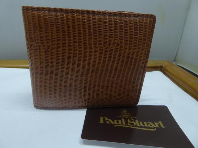 半額新品ポール、スチュアート皮2つ折財布、小銭入、名刺入れ付(西川カード_画像1
