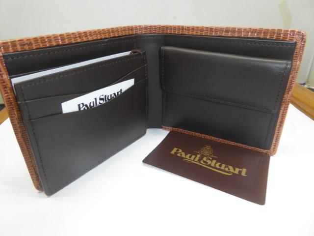 半額新品ポール、スチュアート皮2つ折財布、小銭入、名刺入れ付(西川カード_画像3