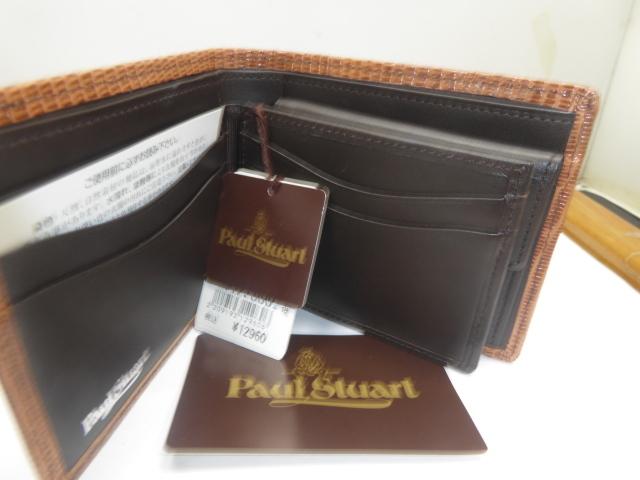 半額新品ポール、スチュアート皮2つ折財布、小銭入、名刺入れ付(西川カード_画像4