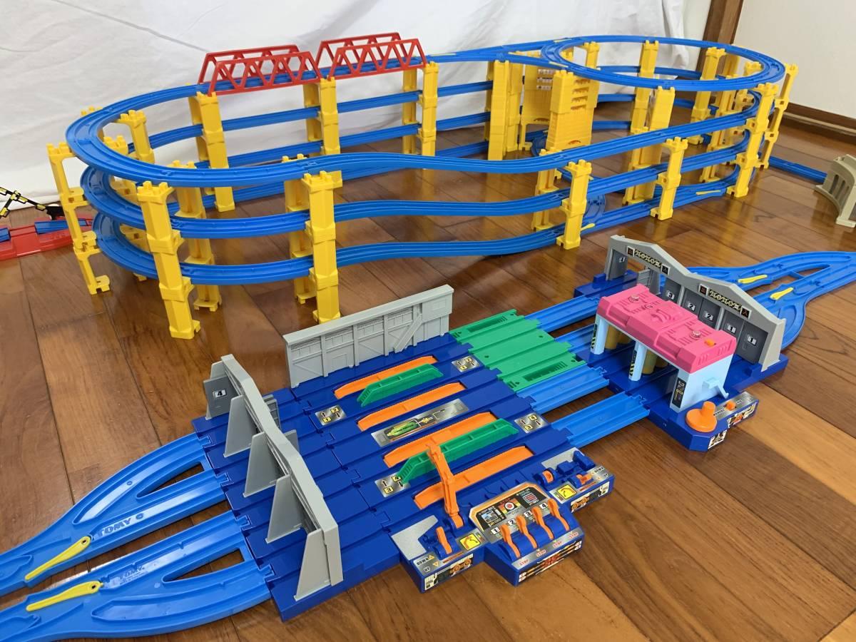 プラレール 4段レイアウト 直線レール・曲線レール・橋脚など大量 B_画像6