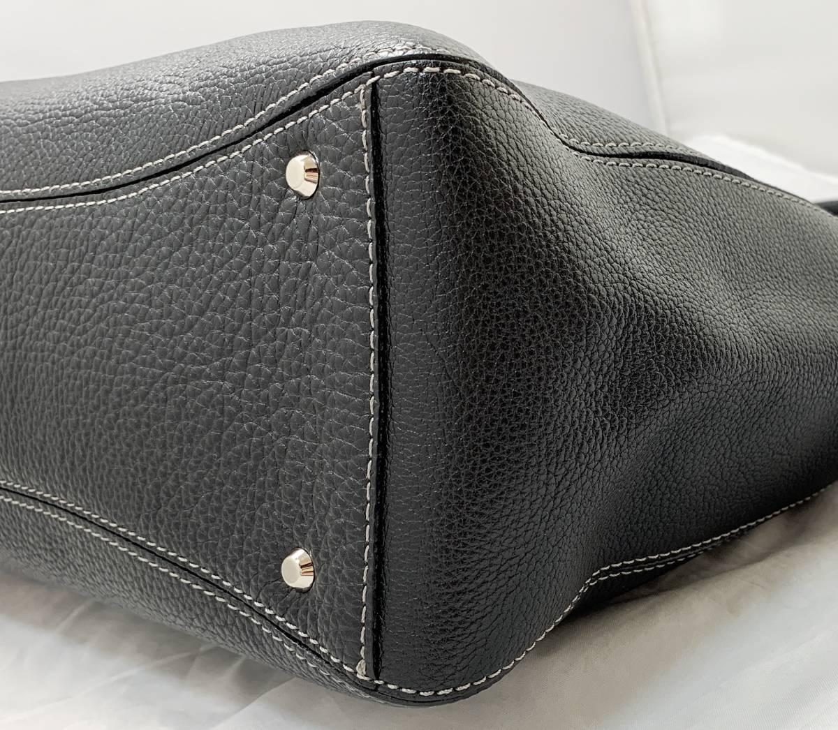 超美品 定価6万↑★ 土屋鞄 ノワイエット エイブルトート バッグ 鞄 ブラック 黒 ハンドバッグ ショルダーバッグ フォーマルにも◎ _画像5