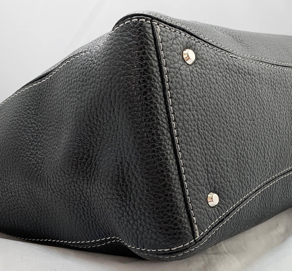 超美品 定価6万↑★ 土屋鞄 ノワイエット エイブルトート バッグ 鞄 ブラック 黒 ハンドバッグ ショルダーバッグ フォーマルにも◎ _画像7