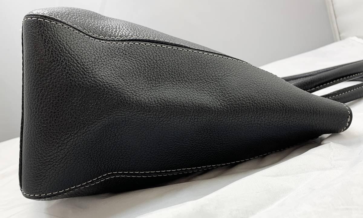 超美品 定価6万↑★ 土屋鞄 ノワイエット エイブルトート バッグ 鞄 ブラック 黒 ハンドバッグ ショルダーバッグ フォーマルにも◎ _画像4