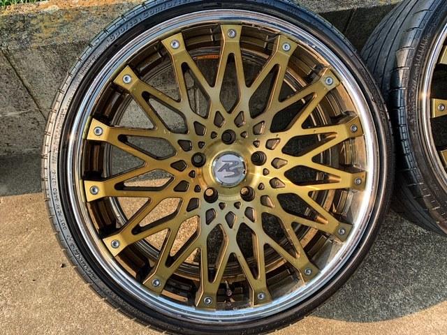 値下げ CRIMSON RS CV WIRE 【クリムソン】クリアゴールド オプションカラー4本セット BMW F30 F31 F32 F34 F35 F36 F10 F11 F20 PCD120 _画像3