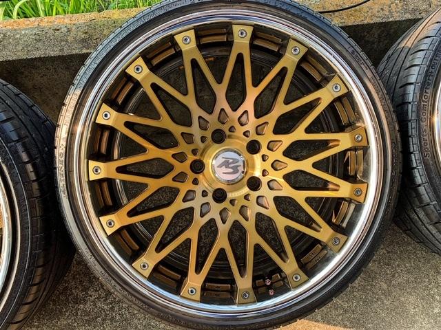 値下げ CRIMSON RS CV WIRE 【クリムソン】クリアゴールド オプションカラー4本セット BMW F30 F31 F32 F34 F35 F36 F10 F11 F20 PCD120 _画像5