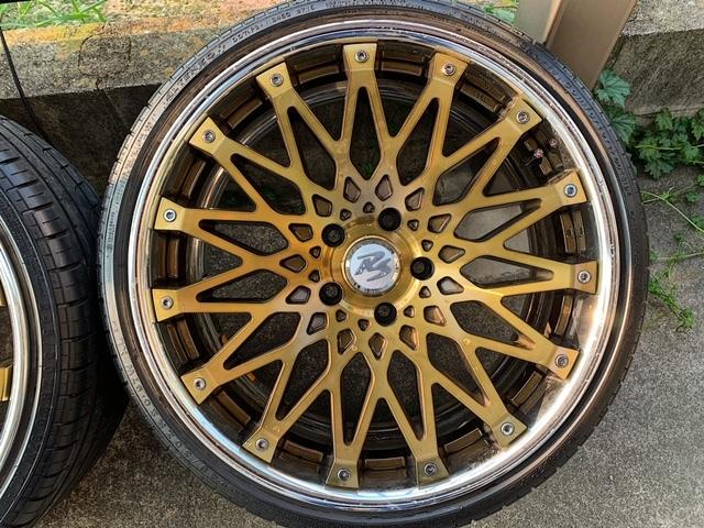 値下げ CRIMSON RS CV WIRE 【クリムソン】クリアゴールド オプションカラー4本セット BMW F30 F31 F32 F34 F35 F36 F10 F11 F20 PCD120 _画像6