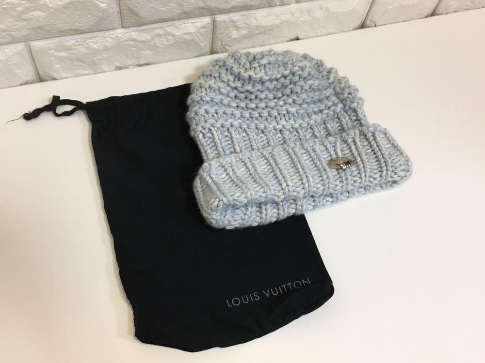 正規品極上美品 ヴィトン カシミア100% ニット帽 M70450 JH0136 売り切り 本物
