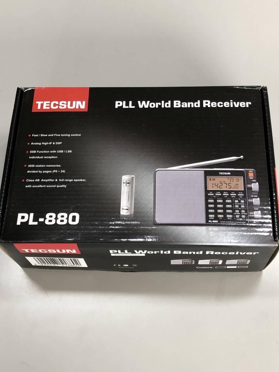 ♪ TECSUN PL-880 FMステレオ/LW/MW/SW SSB PLLワールドバンドレシーバー 超美品 日本語説明書 ♪