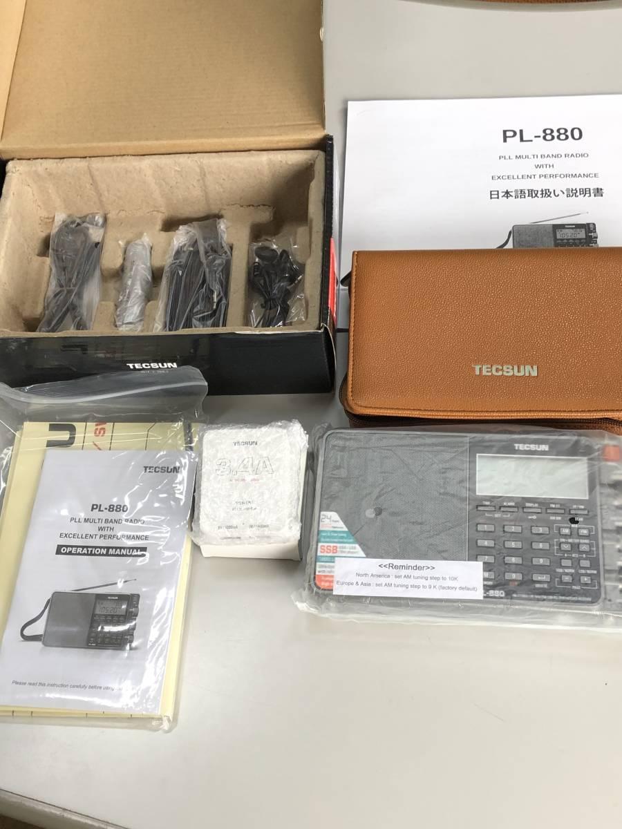 ♪ TECSUN PL-880 FMステレオ/LW/MW/SW SSB PLLワールドバンドレシーバー 超美品 日本語説明書 ♪_画像2