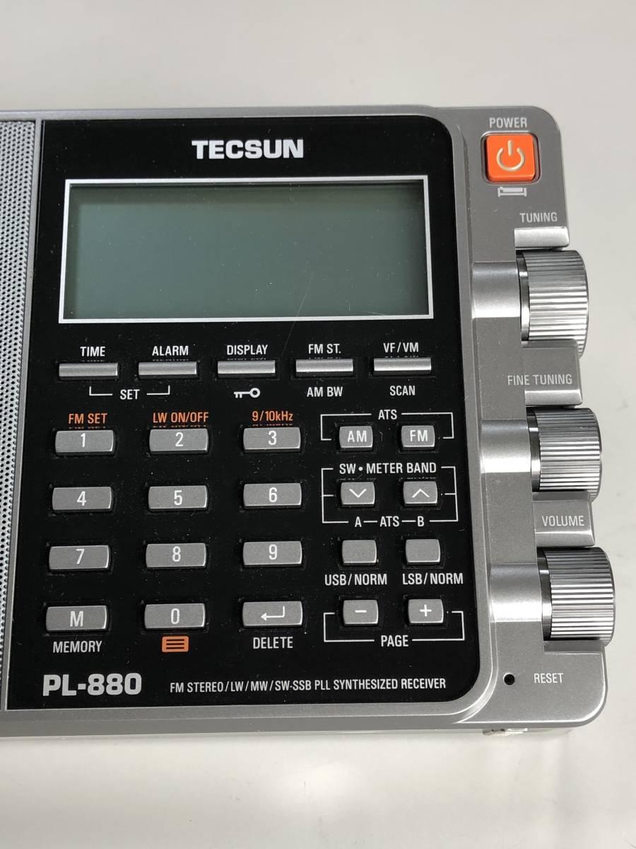 ♪ TECSUN PL-880 FMステレオ/LW/MW/SW SSB PLLワールドバンドレシーバー 超美品 日本語説明書 ♪_画像5