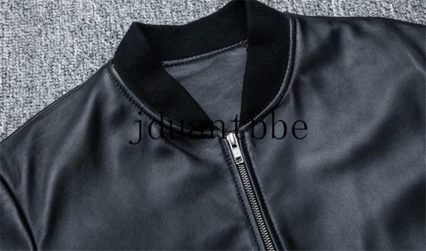 高級感満載 100%上層羊革ジャケット フライトジャケット ライダースジャケット 紳士 ベースボール服 ショートコートサイズ選択可judー01_画像4
