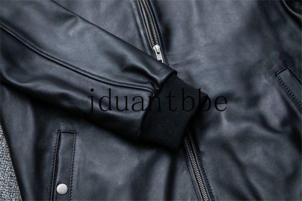 高級感満載 100%上層羊革ジャケット フライトジャケット ライダースジャケット 紳士 ベースボール服 ショートコートサイズ選択可judー01_画像5