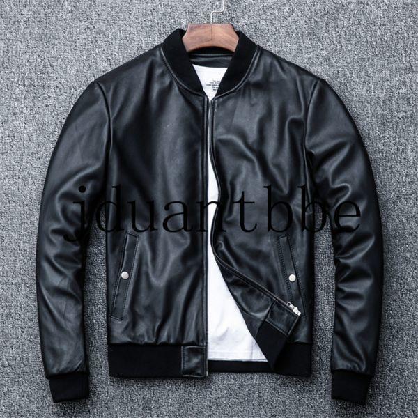 高級感満載 100%上層羊革ジャケット フライトジャケット ライダースジャケット 紳士 ベースボール服 ショートコートサイズ選択可judー01