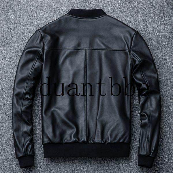 高級感満載 100%上層羊革ジャケット フライトジャケット ライダースジャケット 紳士 ベースボール服 ショートコートサイズ選択可judー01_画像2