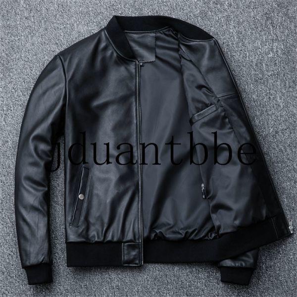 高級感満載 100%上層羊革ジャケット フライトジャケット ライダースジャケット 紳士 ベースボール服 ショートコートサイズ選択可judー01_画像3