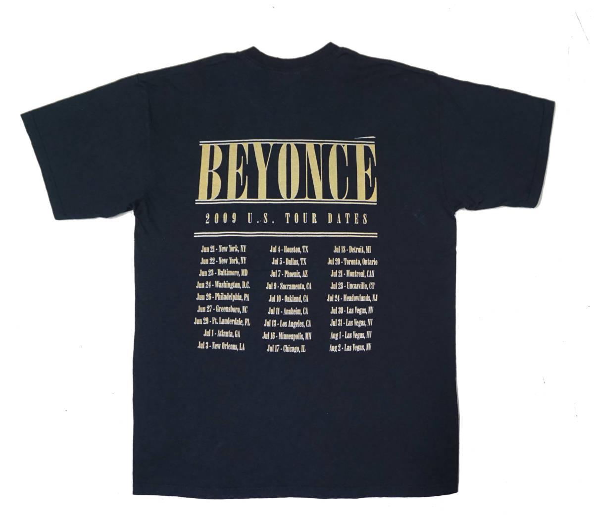 激レア! BEYONCE 『I AM... SASHA FIERCE』 ツアー Tシャツ JAY-Z KANYE WEST ASAP ROCKY NAS NWA 2PAC_画像2
