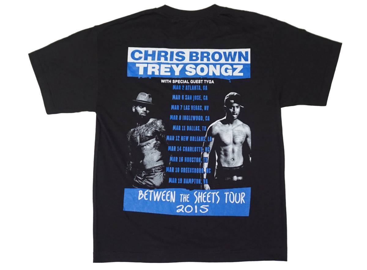 デッドストック! CHRIS BROWN & TREY SONGZ 『BETWEEN THE SHEETS』 ツアー Tシャツ JAY-Z BEYONCE KANYE WEST ASAP ROCKY NAS 50CENT_画像2