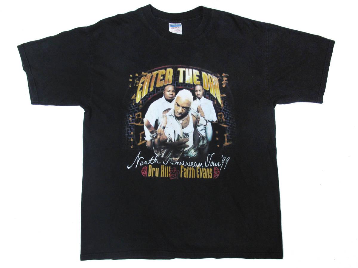 激レア! 90's DRU HILL & FAITH EVANS 『ENTER THE DRU』 ツアー Tシャツ LIL' KIM FOXY BROWN NOTORIOUS BIG PUFF DADDY MASE NAS JAY-Z_画像1