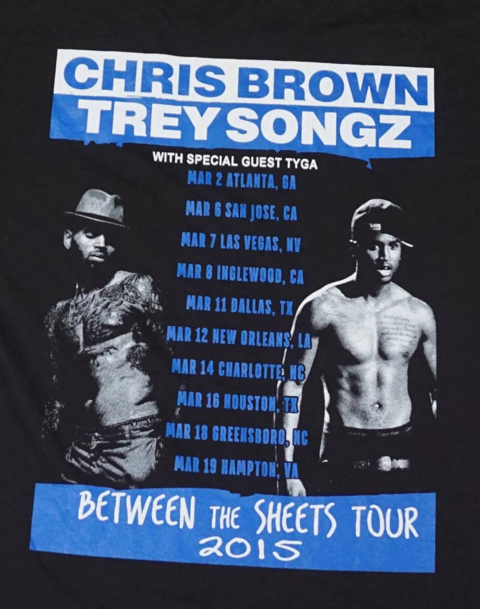 デッドストック! CHRIS BROWN & TREY SONGZ 『BETWEEN THE SHEETS』 ツアー Tシャツ JAY-Z BEYONCE KANYE WEST ASAP ROCKY NAS 50CENT_画像5