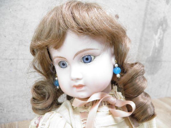 ◇ビスクドール DEPOSE E14J デポゼ 西洋人形 女の子 約48cm アンティーク /l-39201_画像8