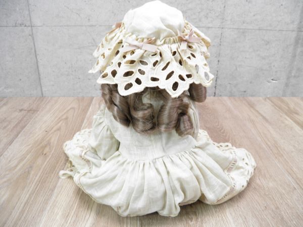 ◇ビスクドール DEPOSE E14J デポゼ 西洋人形 女の子 約48cm アンティーク /l-39201_画像4