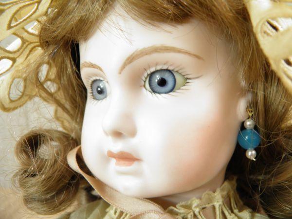 ◇ビスクドール DEPOSE E14J デポゼ 西洋人形 女の子 約48cm アンティーク /l-39201_画像6