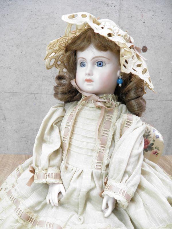 ◇ビスクドール DEPOSE E14J デポゼ 西洋人形 女の子 約48cm アンティーク /l-39201_画像1