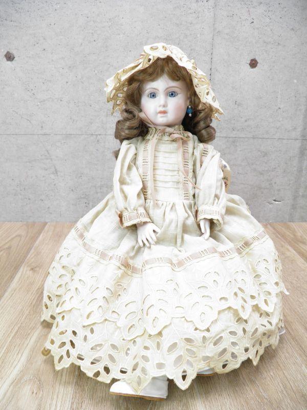 ◇ビスクドール DEPOSE E14J デポゼ 西洋人形 女の子 約48cm アンティーク /l-39201_画像2