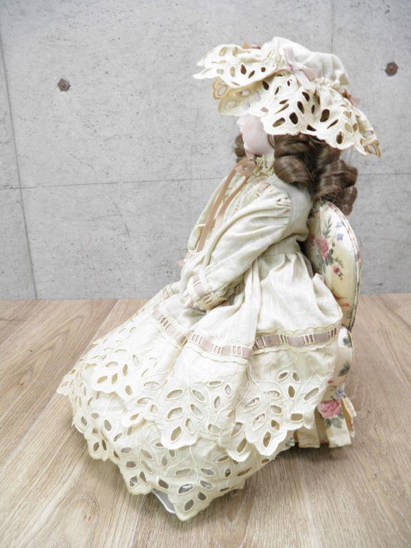 ◇ビスクドール DEPOSE E14J デポゼ 西洋人形 女の子 約48cm アンティーク /l-39201_画像3