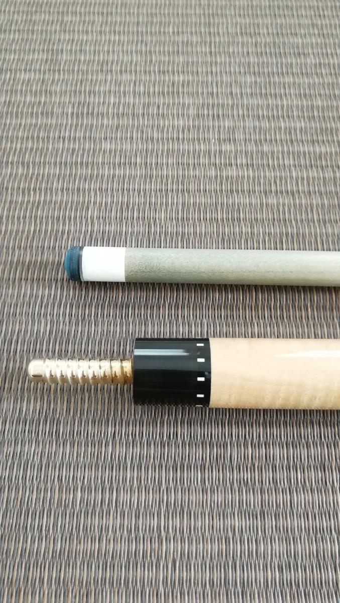 メーカー不明 子無し6剣片ハギ カスタムキュー M-Spec加工済シャフト_画像7