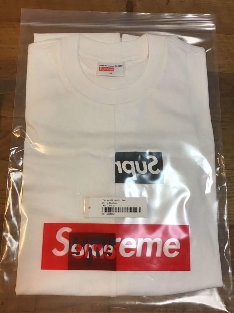 18aw Supreme × Comme des Garcons SHIRT Split Box Logo Tee