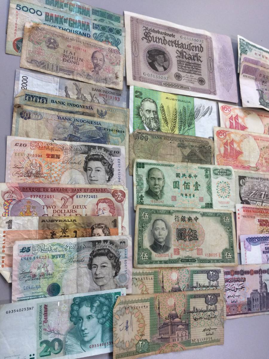 古08012 海外紙幣 外国紙幣 お札 古紙幣 中国 韓国 アメリカ 第二次世界大戦下 ドイツ帝国 他色々 まとめ_画像8
