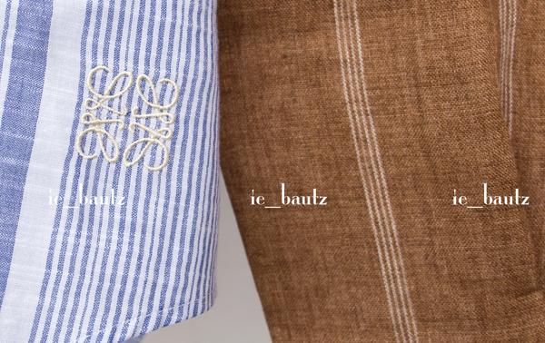 新品 ロエベ リネン パッチワークシャツ39 カラーブロック_画像2