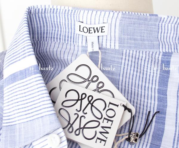 新品 ロエベ リネン パッチワークシャツ39 カラーブロック_画像6