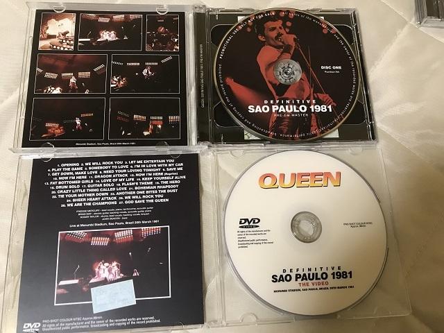 【送料無料】美品 Queen クイーン Definitive Sao Paulo 1981 Pre-FM Master + Definitive Sao Paulo 1981: The Video 初回プレス盤_画像2
