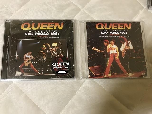 【送料無料】美品 Queen クイーン Definitive Sao Paulo 1981 Pre-FM Master + Definitive Sao Paulo 1981: The Video 初回プレス盤