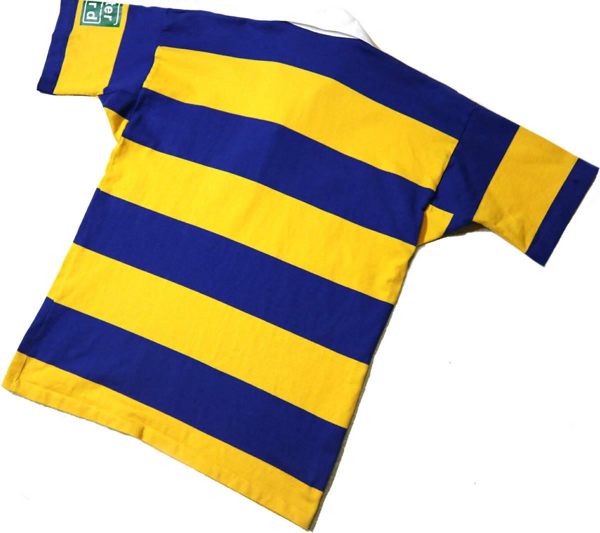 良好!◆NZ製 カンタベリー STEAMERS 刺繍&プリント ラガーシャツ◆やや大きめLサイズ_画像2