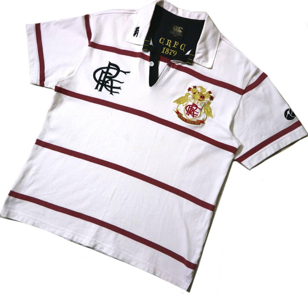 訳あり(薄汚れ)/良好!◆カンタベリー 刺繍ロゴ 綿100地 ラガーシャツ◆Mサイズ
