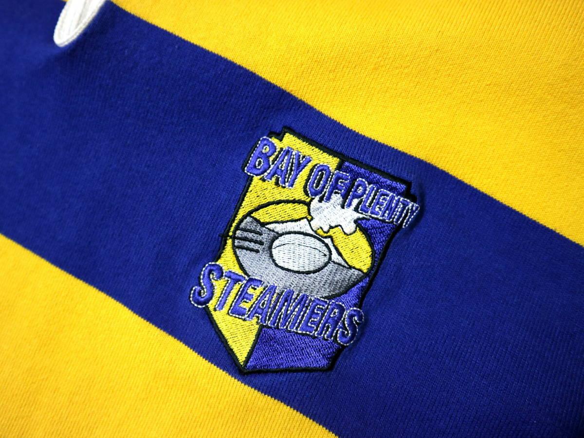 良好!◆NZ製 カンタベリー STEAMERS 刺繍&プリント ラガーシャツ◆やや大きめLサイズ_画像5