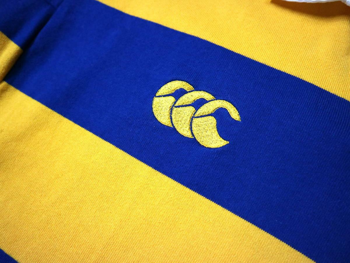 良好!◆NZ製 カンタベリー STEAMERS 刺繍&プリント ラガーシャツ◆やや大きめLサイズ_画像6