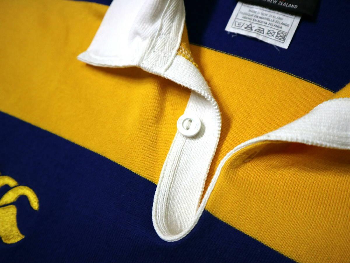 良好!◆NZ製 カンタベリー STEAMERS 刺繍&プリント ラガーシャツ◆やや大きめLサイズ_画像7