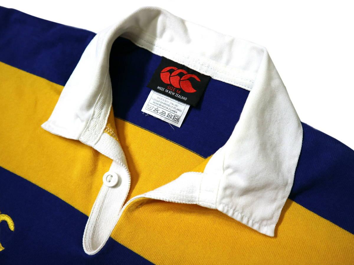 良好!◆NZ製 カンタベリー STEAMERS 刺繍&プリント ラガーシャツ◆やや大きめLサイズ_画像8