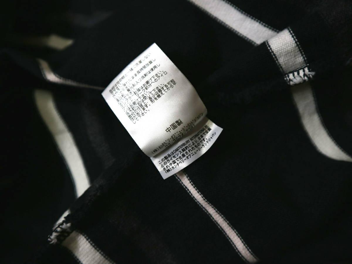 概ね美品!◆カンタベリー ボーダー柄&刺繍ロゴ 綿100地 ラガーシャツ◆Lサイズ_画像9