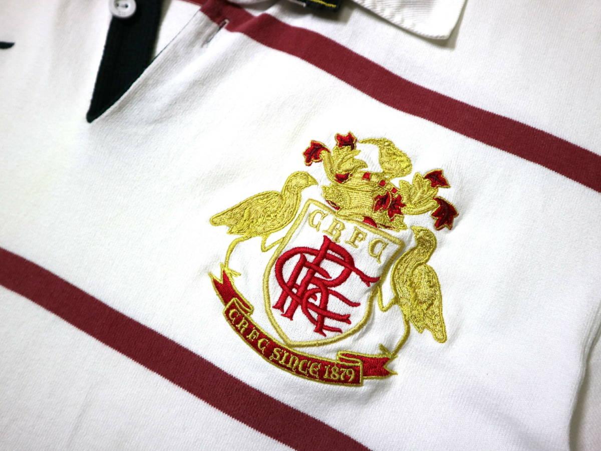 訳あり(薄汚れ)/良好!◆カンタベリー 刺繍ロゴ 綿100地 ラガーシャツ◆Mサイズ_画像4